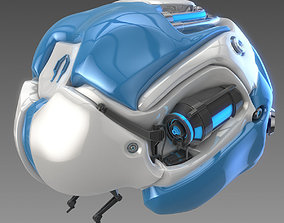 Artificial brain concept 3D model