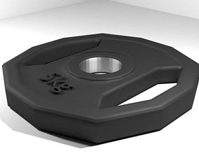 Exercise Equipment Weight Plate 3D model
