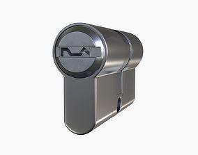 3D model standard door profile cylinder PZ