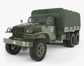 3D GMC CCKW Military Truck