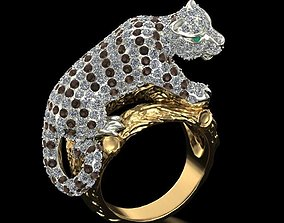 Ring White tiger cub 3D print model