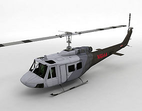 Bell Huey II Helicopter 3D model