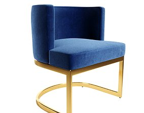 All Modern - Victor Upholstered Dining Chair furniture 3D