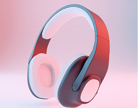 music Headphone 3D model