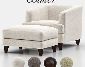 Taylor Lounge Chair with Ottoman BAU3102C 3D