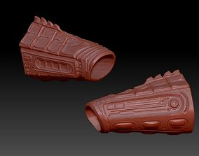 predator 2 inspired wrist gauntlets 3D print model