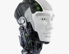 Cyborg head II 3d model
