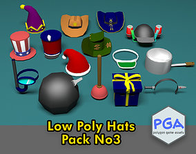 3D model Low Poly Hats 3