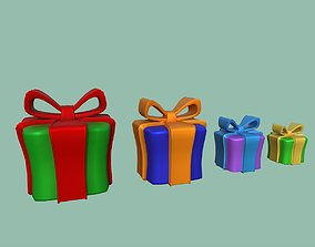 Gifts 3D asset low-poly