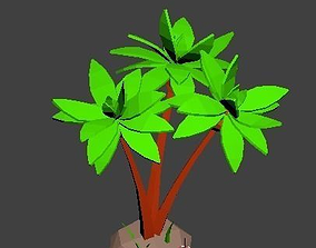 3D asset game-ready Coconutor palm tree