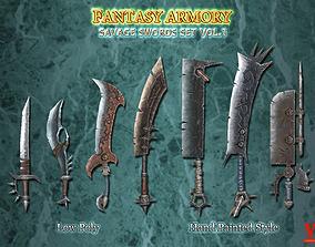 3D model Savage Fantasy Sword Set Vol1