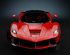 3D asset low-poly Ferrari LaFerrari