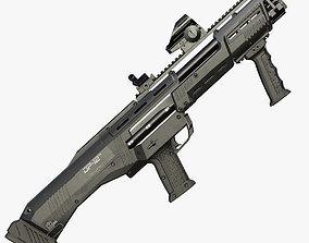 DP-12 Double Barreled Pump Shotgun 3D model low-poly