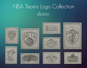 3D model NBA Teams logo collection