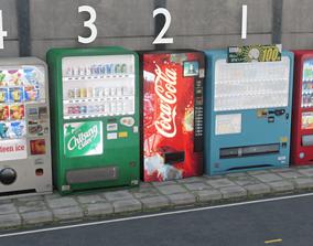3D model Japanese Vending Machine Pack
