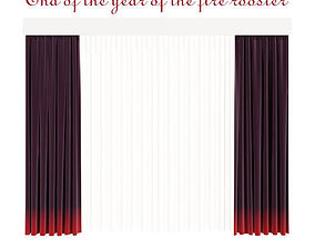 3D model Curtains - End of the year of the fire rooster