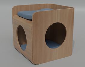 Cat House 3D model sleep