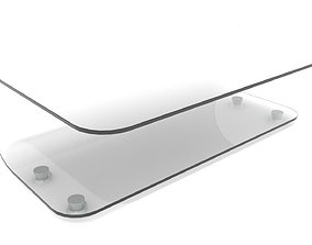 Curved Glass Bend Coffee Table 3D