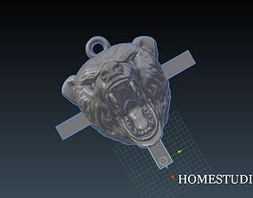 3D printable model PENDANT BEAR angry
