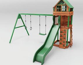 3D model Cheerful green slides