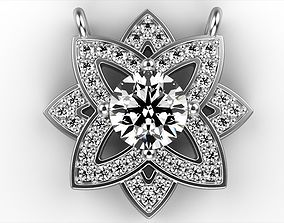 3D printable model Lily Sapphire Pendant