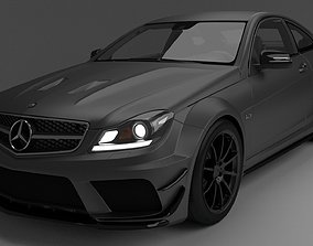 Mercedes Benz C63 3D asset game-ready