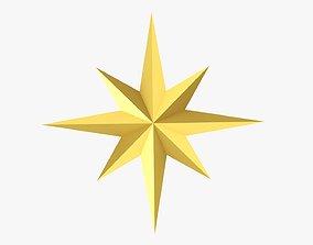 Gold star Christmas 3D model