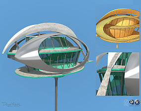 3D model Futuristic Architecture Skyscraper 07