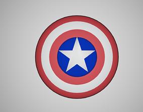 Captain America Sheild 3D asset