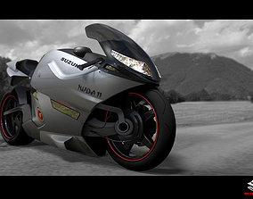 3D model suzuki concept bike