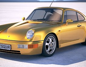 car Porsche 911 964 Carrera 1990 3D