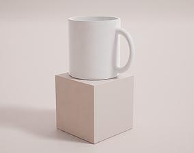 3D model Basic Mug Cup - PBR Game Ready -