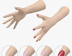 3D model Female Hands Gesture 03 Base Mesh