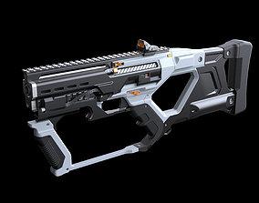 rifle 3D Concept sci fi weapon5