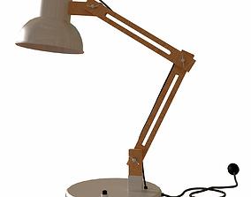 Wooden Desk Lamp 3D Model realtime
