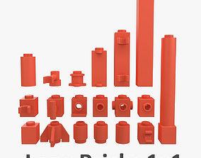 3D model Lego Bricks 1x1