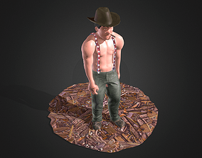 Street Thug Rigged Animated Angry 3D asset