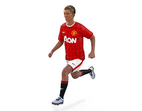 Soccer Player Manchester United Rigged 2 3D Model rigged