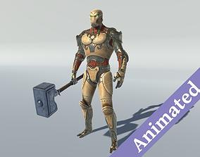 3D asset Golem Guardian
