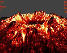 3D asset realtime Volcano