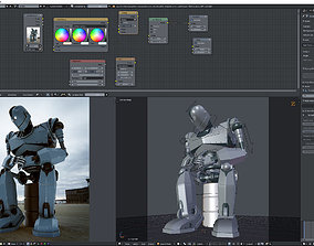 3D asset Iron Giant