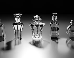 3D asset Glass bottles