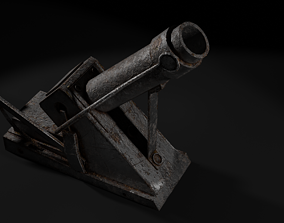 3D asset Garland trench mortar