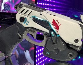 3D printable model Dva LED Pistol Cosplay Prop