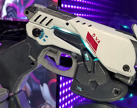3D printable model Dva LED Pistol Cosplay Prop