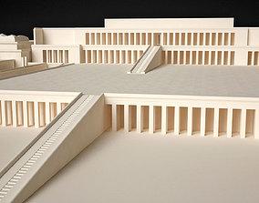 3D asset Egyptian Queen Hatshepsut Temple