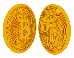 3D print model bitcoin