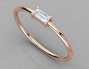 Women solitaire ring 3dm render detail silver wedding