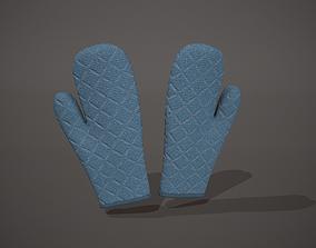 Blue Oven Glove 3D asset