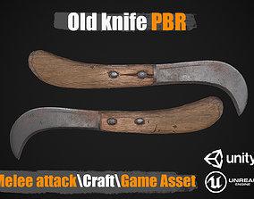 3D asset Knife Garden PBR Game Ready